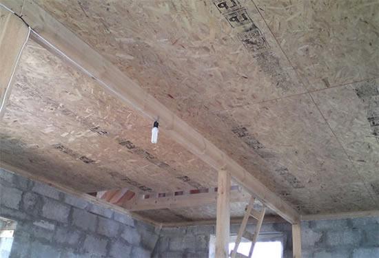 Как сделать потолок из осб