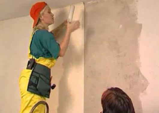 Как клеить обои когда сделали натяжные потолки 946