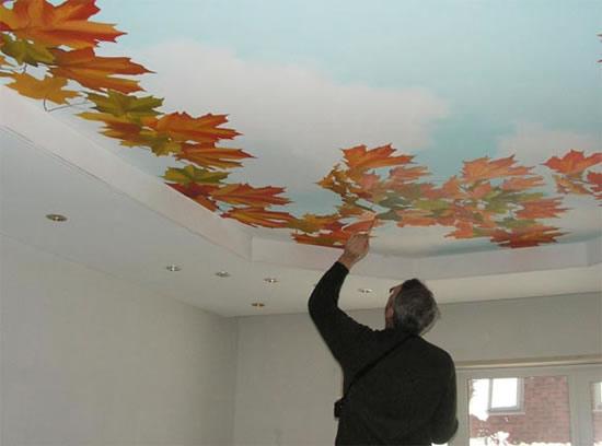 Потолок расписной своими руками