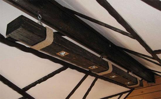 Люстры деревянные потолочные, светильники под старину